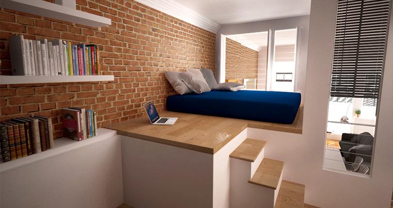 loft bedroom_3d
